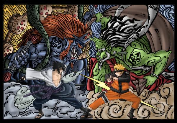 Fujin e Raijin in Naruto.