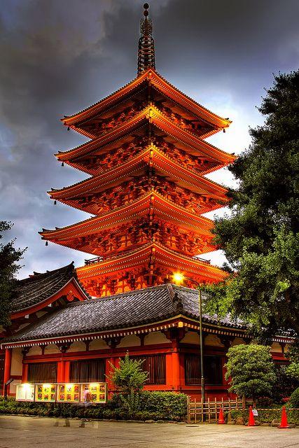Asakusa-Senso-ji, also known as Asakusa Kannon Temple, Tokyo