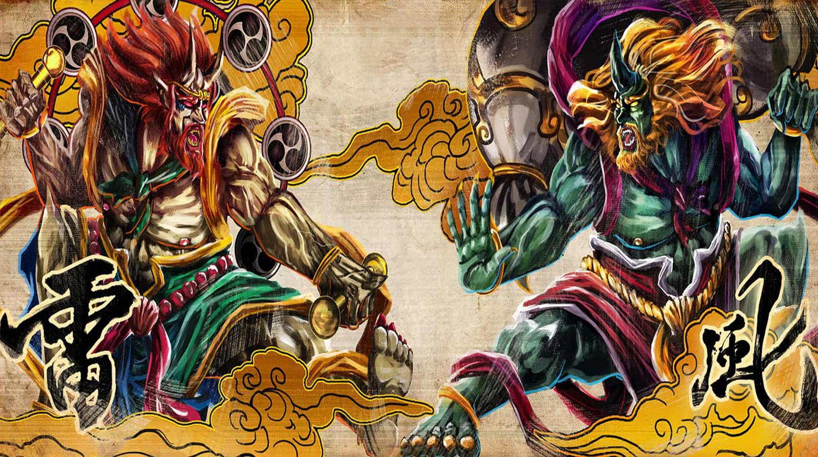 Fujin e Raijin: Os Mitológicos Deuses do Vento e do Trovão no Japão
